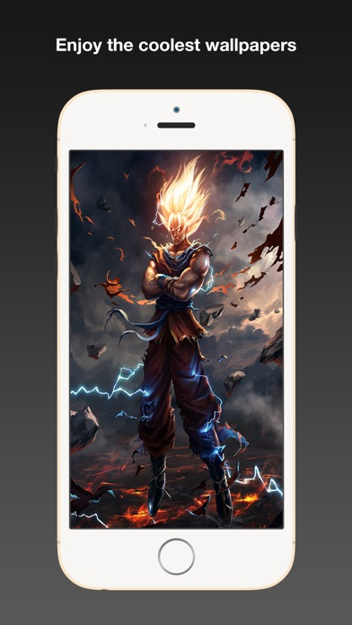 Dragon ball fan art wallpapers hd background themes with cool iphone voltagebd Choice Image