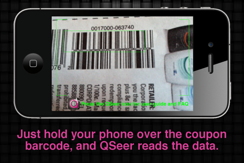 QSeer Coupon Reader screenshot 2