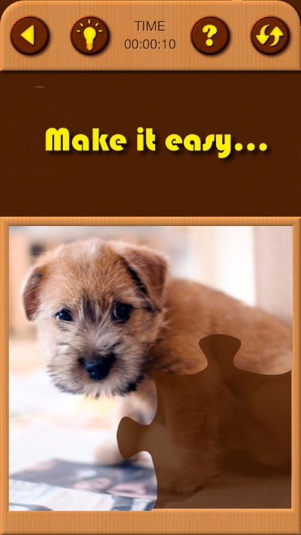 Cute Puppy Jigsaw Puzzle Games