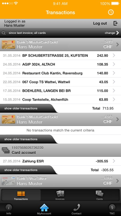 MyAccount Mobile Viseca screenshot-2