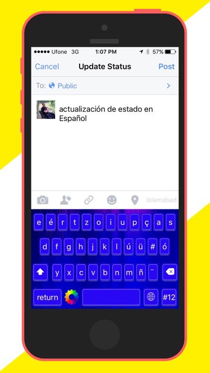 Spanish Keyboard screenshot-3