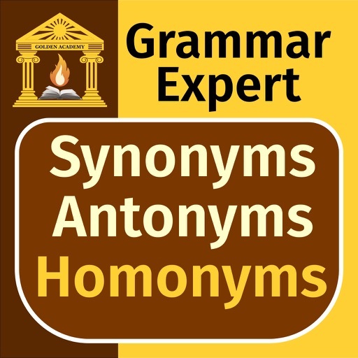 Grammar Expert: Synonyms, Antonyms and Homonyms FREE icon