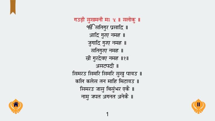 Sukhmani Sahib : Paath in Gurmukhi Hindi English with Meaning and MP3 screenshot-4