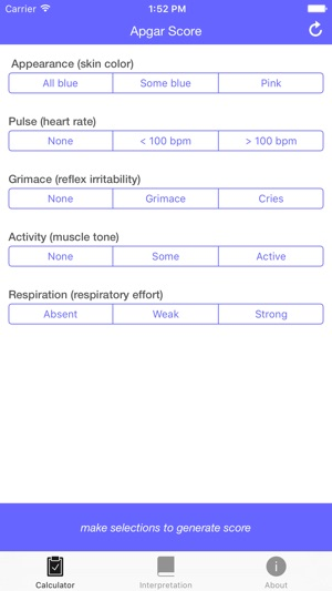 Apgar Score Quickly Test The Health Of A Newborn Baby On The App Store