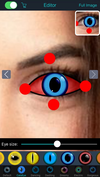 Eye Color Changer Editor - Makeup Red Eye Remover screenshot-3