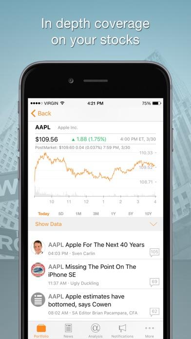 Seeking Alpha Portfolio iPhone