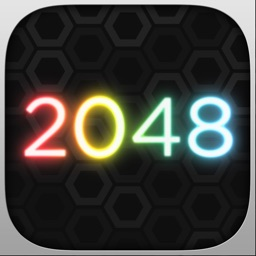 GeoMatch - 2048 experience with glowing neon particle explosions