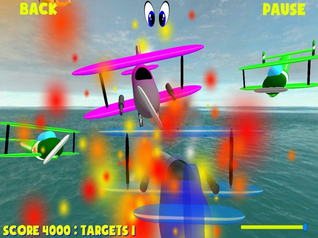 Biplanes, dog fight, game for IOS