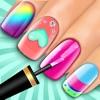 美甲化妆女孩游戏:虚拟美容院 - 指甲油装饰游戏
