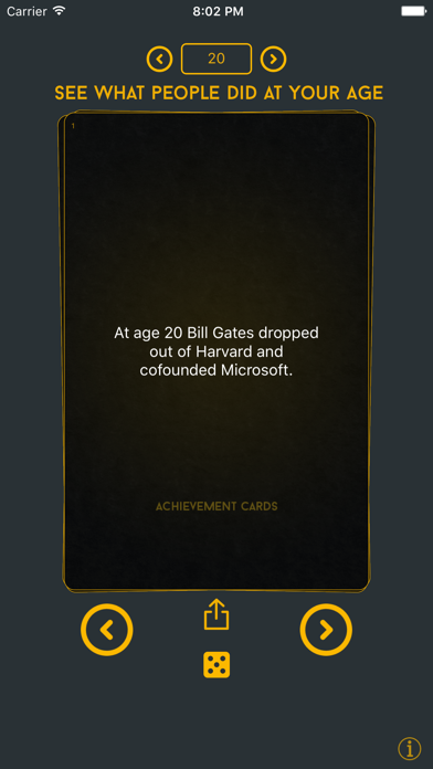 点击获取Achievement Cards - What other people accomplished at your age