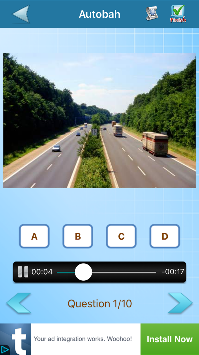 TOEIC Practice Test Screenshot