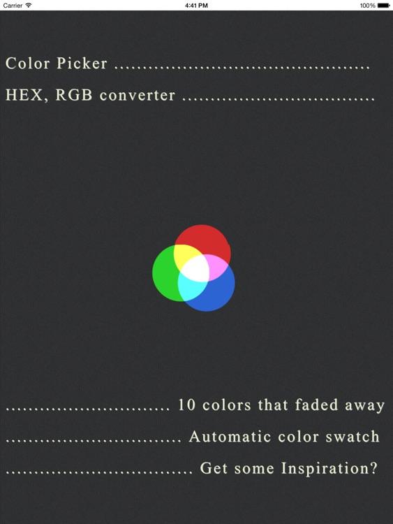 COPIC - Color Picker & Converter for iPad