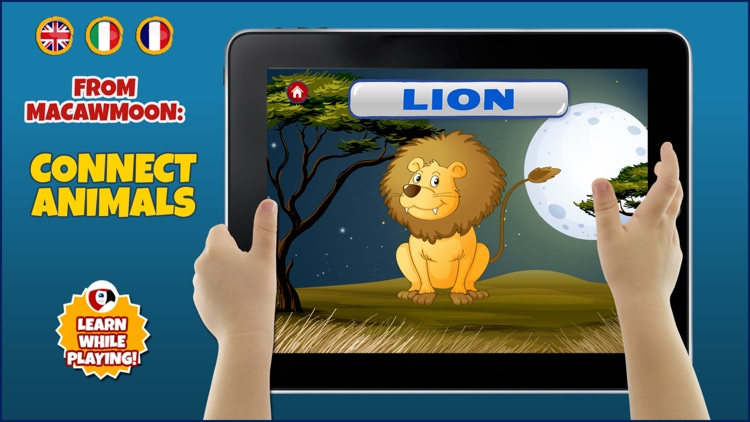 Discovery the animals - counting with interactive fauna zoo ocean wild - Macaw Moon screenshot-3