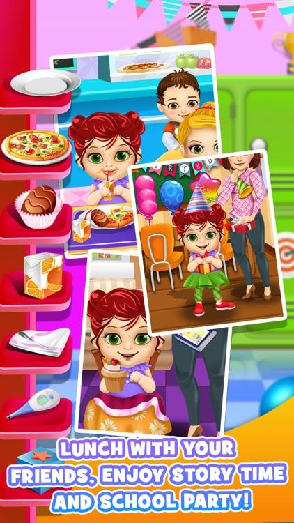 First Day of School - Baby Salon Make Up Story & Makeover Spa Kids Games! screenshot-3