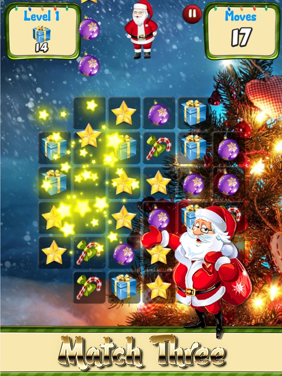 screenshot 1 for merry christmas games and puzzles match candy for holiday songs and - Merry Christmas Games