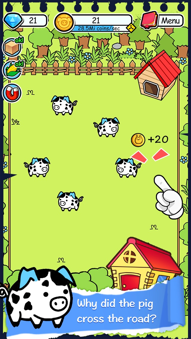 Pig Evolution | Tap Coins of the Family Farm Story Day and Piggy Clicker Game Screenshot on iOS