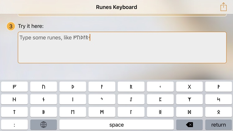 Runes Keyboard with Futhark Signs