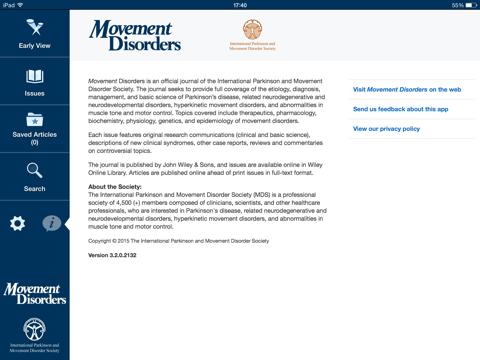 Movement Disorders screenshot