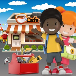 Make It Kids Winter Job - Build, design and decorate a coffee shop business and sell snacks as little entrepreneurs