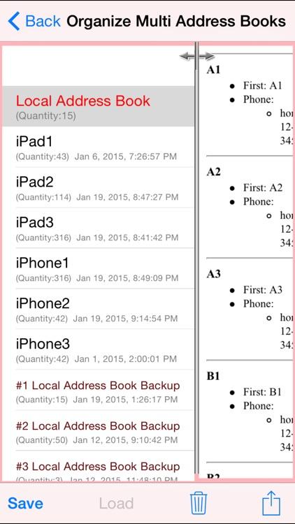 Free Comprehensive Multi Address Book Organizer+ screenshot-3