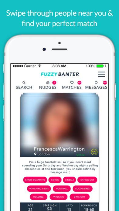 FuzzyBanter - Putting the fun back into dating. screenshot one