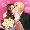 Valentine Kissing –  Kissing Game for  girls in love at Valentine day