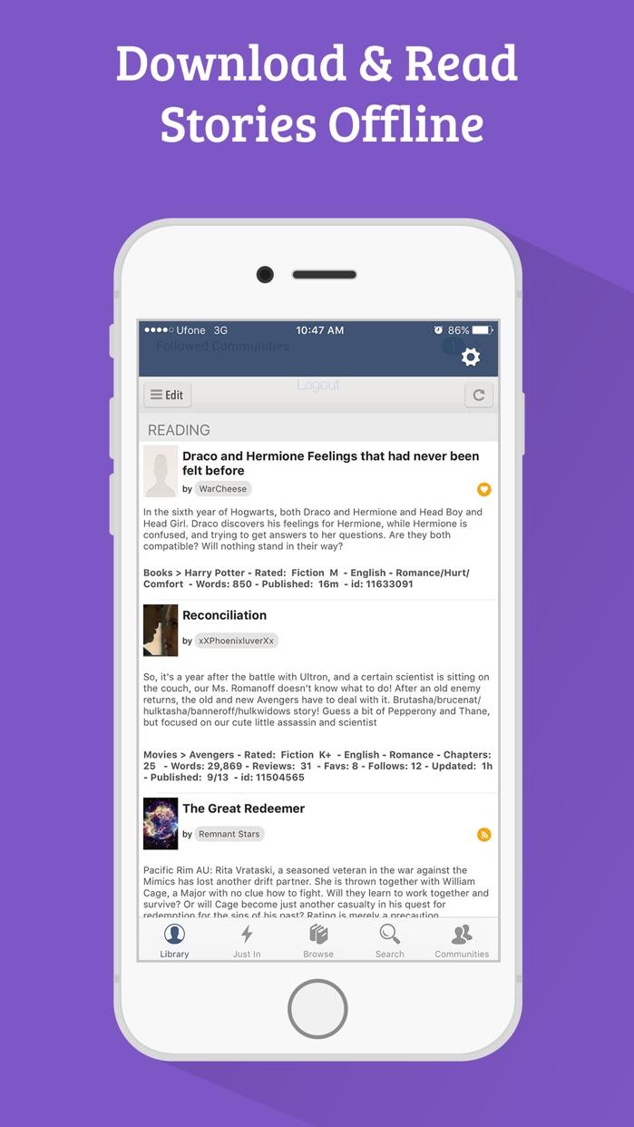 FanFiction - 300,000+ books for fiction readers Screenshot