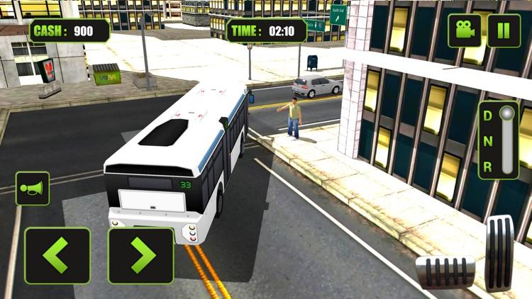 Real Modern city Bus driving simulator 3d 2016 - transport passengers through real city traffic screenshot-4