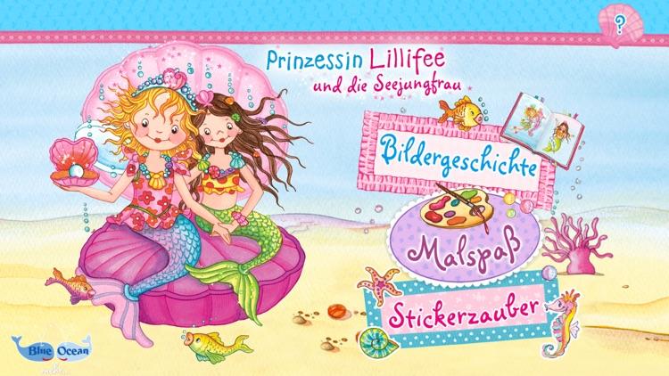 Prinzessin Lillifee und die Seejungfrau – Bildergeschichte, Malspaß, Stickerzauber screenshot-0