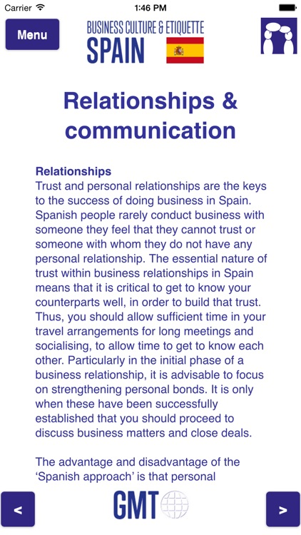 Business culture & etiquette Spain screenshot-2