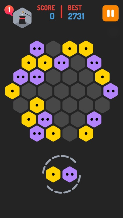 Merge Blocks - Merging hexagon puzzle fun game, rotate and merged screenshot-2