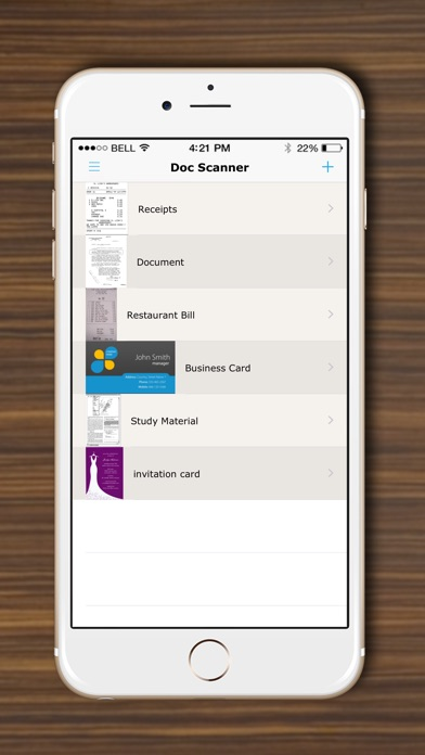Screenshot for DocScanner - Scan Documents, Receipts, Biz Cards in Denmark App Store