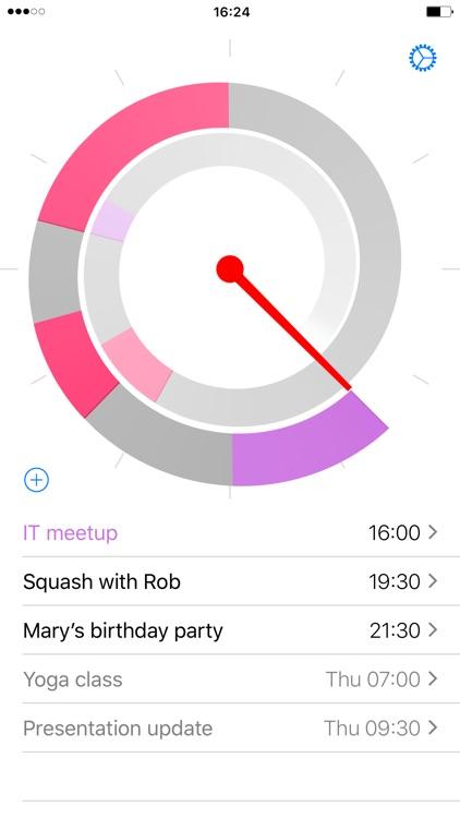 Future – Calendar events around the clock