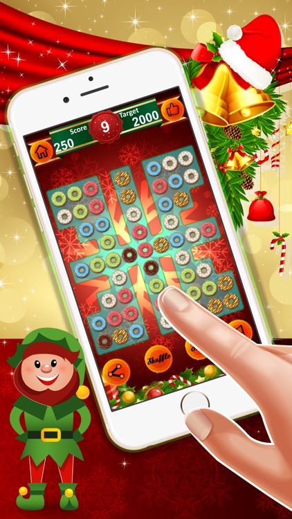 Tasty Donuts Haste : - A match 3 puzzles for Christmas season