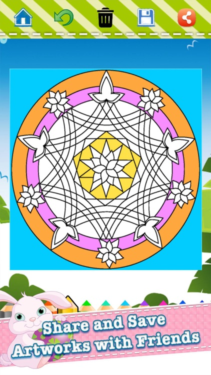 Adult Coloring Book Mandala - Free Fun Games for Stress Bringing Relax Curative Relieving Color Therapy