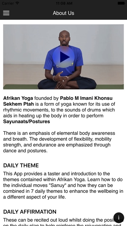 Afrikan yoga by Pablo Imani screenshot-2