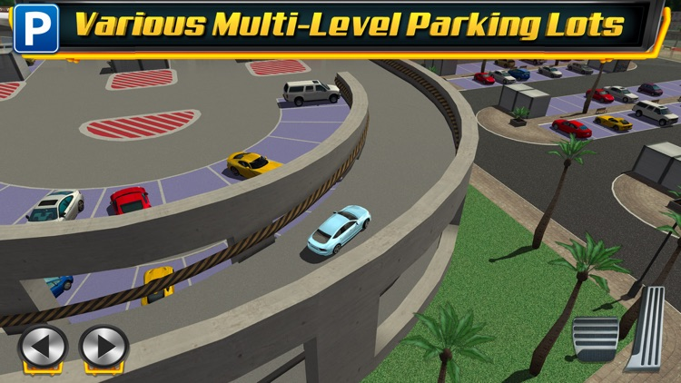 Multi Level 4 Car Parking Simulator a Real Driving Test Run Racing Games screenshot-2