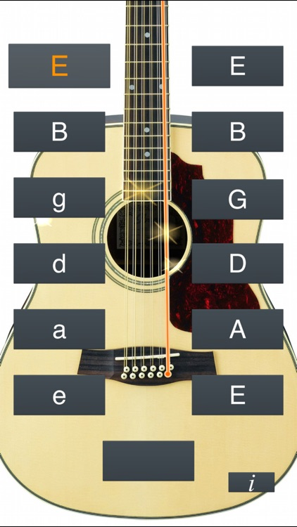 12-String Guitar Tuner Simple screenshot-0