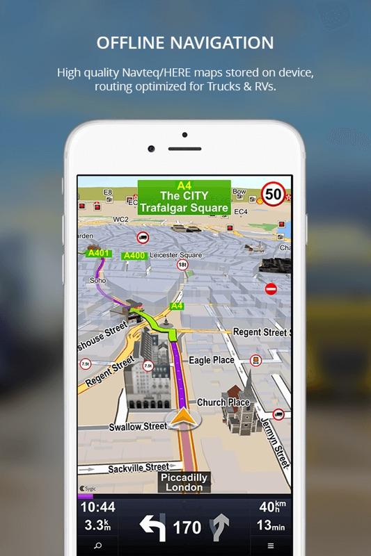 navigation app for truck drivers