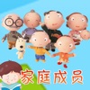 宝贝认家庭成员 -幼儿早教启蒙1-2岁看图识字家庭成员认知