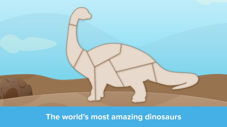 Kids Puzzles - Dinosaurs - Early Learning Dino Shape Puzzles and Educational Games for Preschool Kids Lite screenshot-3