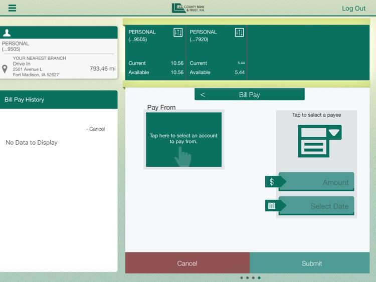 Lee County Bank for iPad