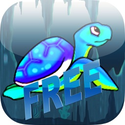 The Diving Turtle In The Deep Blue Sea FREE