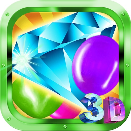 A Diamond And Jewels - Match 3 Mania Game and  Best Action Puzzle Fun!