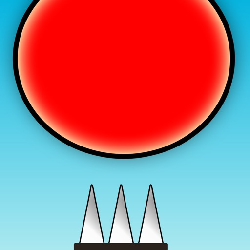 Red Bouncing Ball Spikes Free