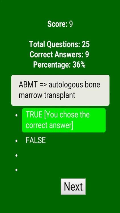 Medical Acronyms & Abbreviations Quiz screenshot-4