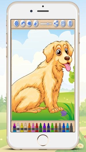 Pintar Dibujos De Perros Libro Para Colorear Cachorros En App Store