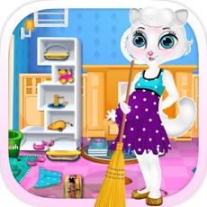 Activities of Pregnant Cat Cleaning For Kids And Girls Free Games