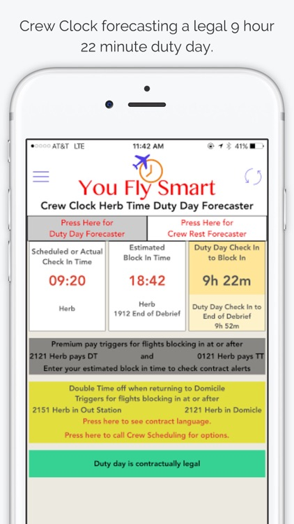 You Fly Smart with Crew Clock Herb Time screenshot-1
