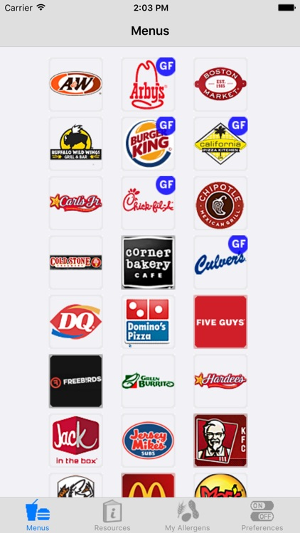 iCanEat Fast Food Gluten Free and Allergy Free